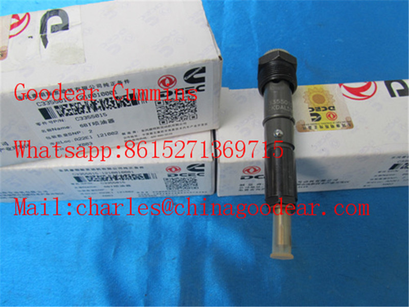 Dongfeng cummins 6BTAA diesel engine fuel injector 3355015
