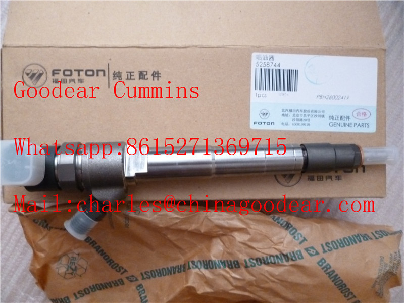 Foton Cummins isf2.8 diesel engine fuel injector 5258744/0445120376