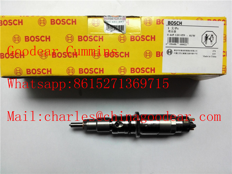 Dongfeng cummins qsb diesel engine fuel injector 0445120059 for komatsu