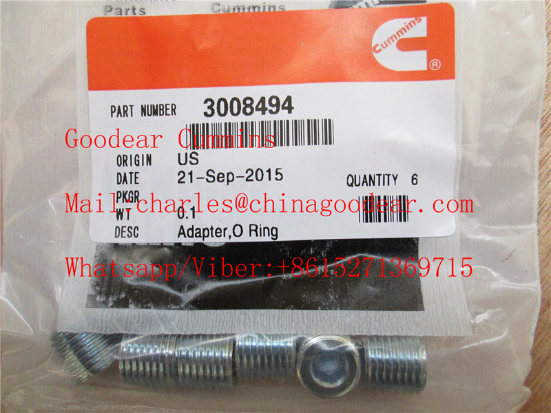 Chongqing cummins k38/k50 diesel engine adapter o ring 3008494